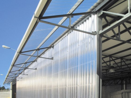 THERMONDA triplewall polycarbonate corrugated sheet